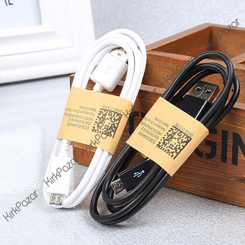 1 Metre Micro USB Şarj Data Kablosu Siyah