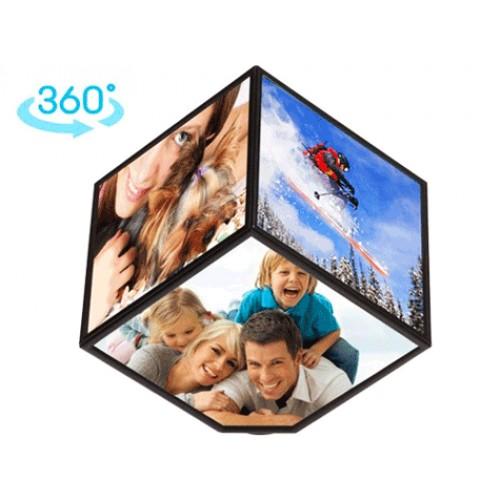 360 Derece Dönebilen Küp Resim Çerçevesi Asorti
