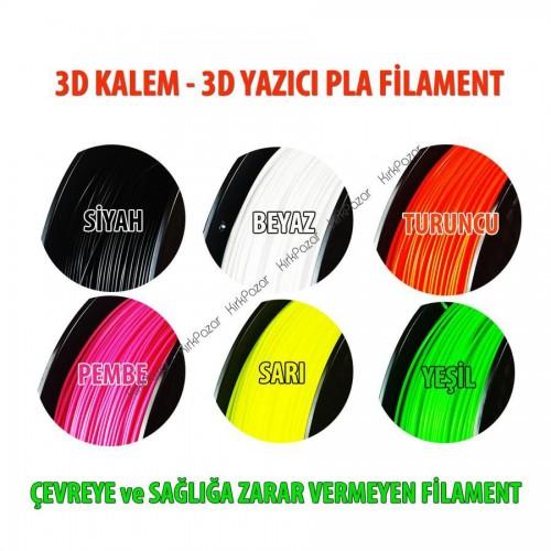 3D Kalem 3D Yazıcı PLA Filament 10 Renk x 5 Metre