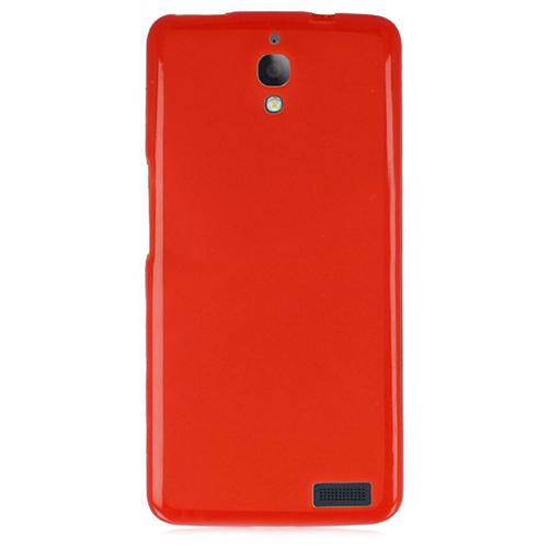 Alcatel OneTouch IDOL X Soft Silikon 0.3mm Şeffaf-Kırmızı