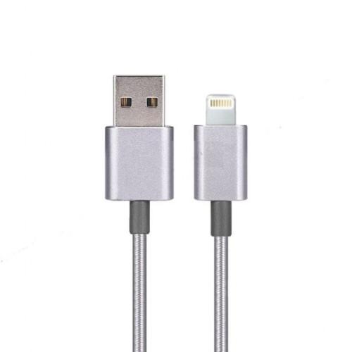 Apple Lightning Hızlı Şarj ve Usb Data Kablo Örgü 100cm Silver