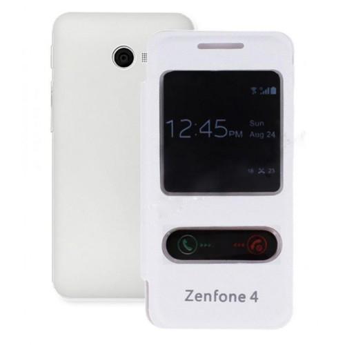 Asus Zenfone 4 Gizli Mıknatıslı Kılıf Beyaz