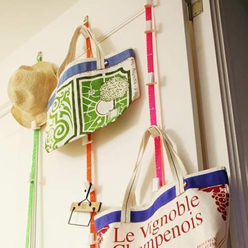 Ayarlanabilir Kapı Arkası İp Şerit Çanta Malzeme Askısı