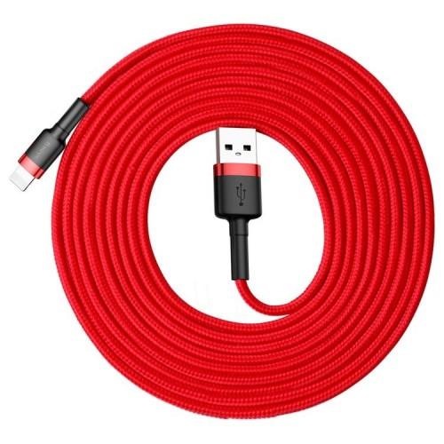 Baseus Cafule Lightning USB Kablo 2.0A 3Mt Kırmızı CALKLF-R09