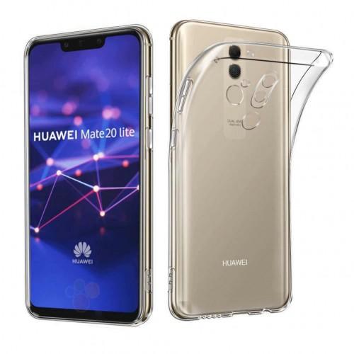 Baseus Huawei Mate 20 Lite Tıpalı Kamera Korumalı Silikon Kapak Şeffaf