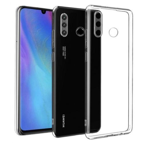Baseus Huawei P30 Lite - Tıpalı Kamera Korumalı Silikon Kapak Şeffaf