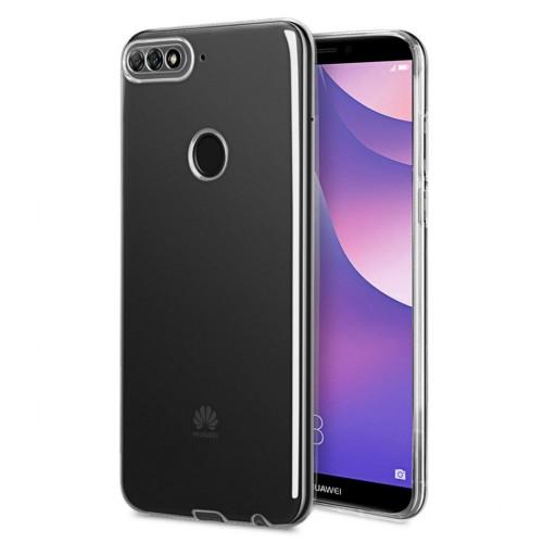 Baseus Huawei Y7 2018 Tıpalı Kamera Korumalı Silikon Kapak Şeffaf