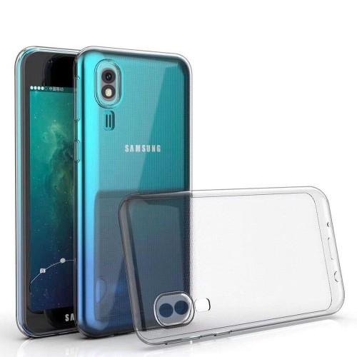 Baseus Samsung A2 Core (A260) Tıpalı Kamera Korumalı Silikon Kapak Şeffaf