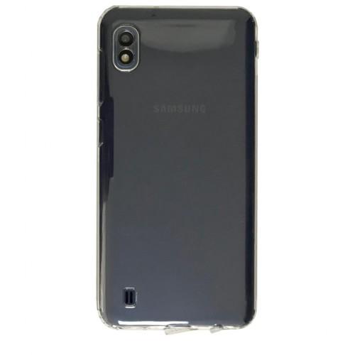 Samsung Galaxy A10 (A105) Tıpalı Kamera Korumalı Silikon Kapak Şeffaf