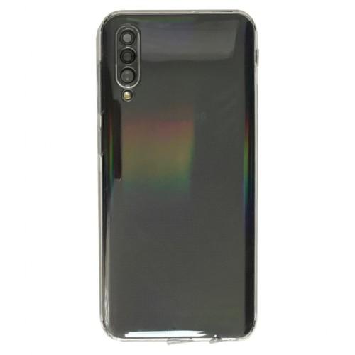 Samsung Galaxy A50 (A505) Tıpalı Kamera Korumalı Silikon Kapak Şeffaf