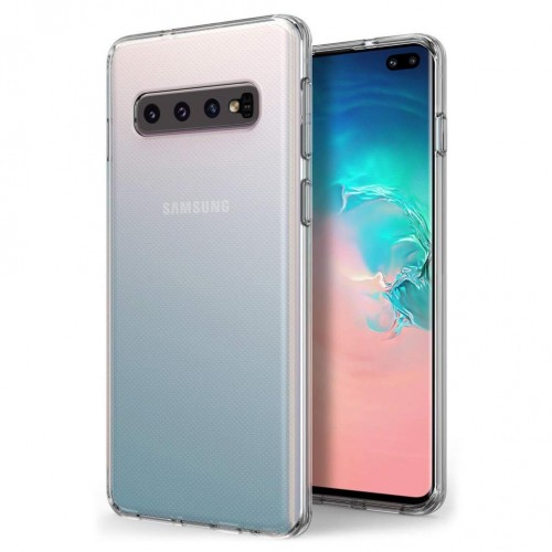 Samsung S10 Plus (G975) Tıpalı Kamera Korumalı Silikon Kapak Şeffaf
