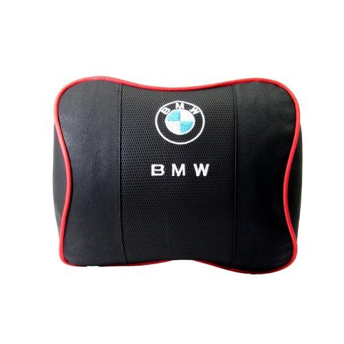 BMW Özel Geniş Deri Boyun ve Seyahat Uyku Yastığı 1 Çift