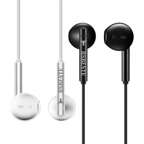 BsBeste Mikrofonlu Kulakiçi Stereo Örgü Kulaklık 3.5mm Q14A