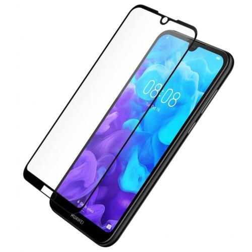 Bufalo Huawei Y5 2019 Kavisli 5D Cam Ekran Koruyucu Siyah