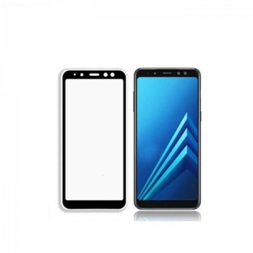 Bufalo Samsung A8 2018 (A530) Kavisli 4D Cam Ekran Koruyucu Siyah