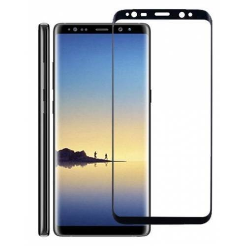Bufalo Samsung Note 8 (N950) Kavisli 4D Cam Ekran Koruyucu Siyah