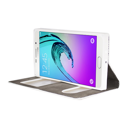 FitCase Dolce Galaxy A7 2016 Gizli Mıknatıslı Pencereli Kılıf Pembe