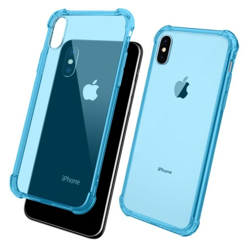 FitCase iPhone X/Xs Rugged Silikon Arka Kapak Mavi