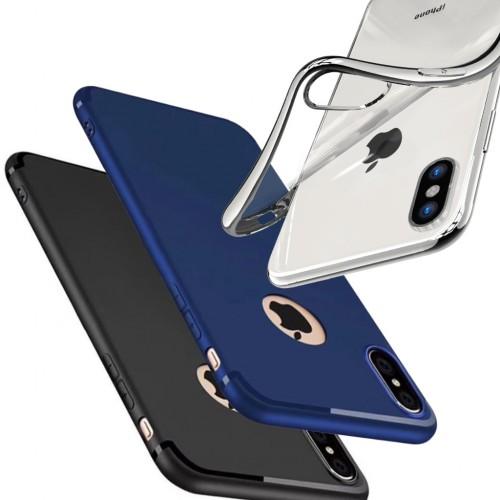 FitCase iPhone X / Xs Toz Koruma Tıpalı Silikon Kapak-Kılıf
