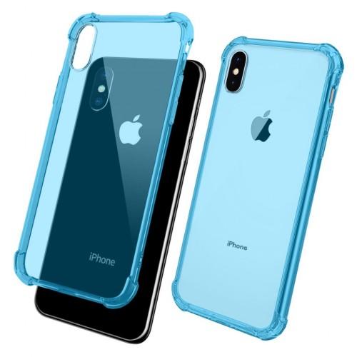 FitCase iPhone Xs Max 6.5 inç Rugged Silikon Arka Kapak Mavi