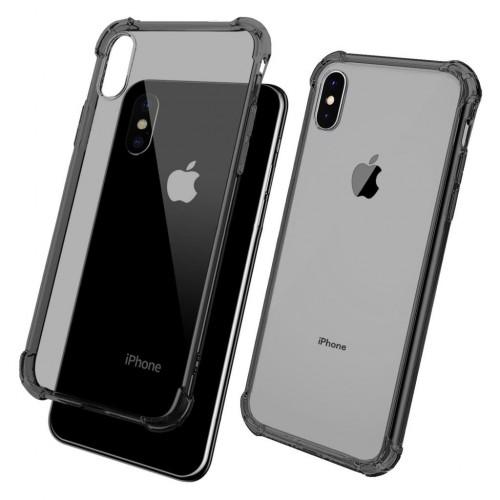 FitCase iPhone Xs Max 6.5 inç Rugged Silikon Arka Kapak Siyah