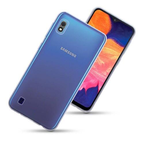 FitCase Samsung A10 (A105) Toz Koruma Tıpalı Silikon Kapak-Kılıf Şeffaf