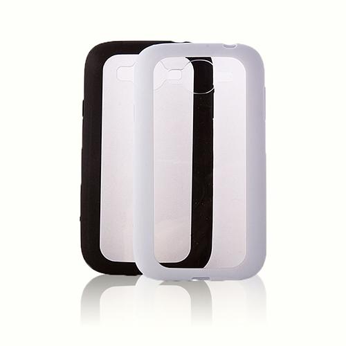 FitCase Samsung Grand Neo (I9060-I9082) Çerçeveli Soft Silikon Siyah