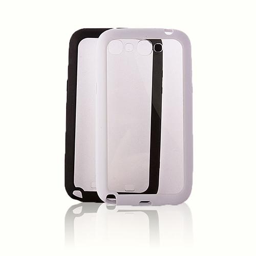 FitCase Samsung Note 2 N7100 Çerçeveli Soft Silikon Beyaz