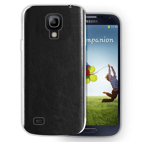FitCase Samsung S4 (I9500) Deri Dokulu TPU Arka Kapak Siyah