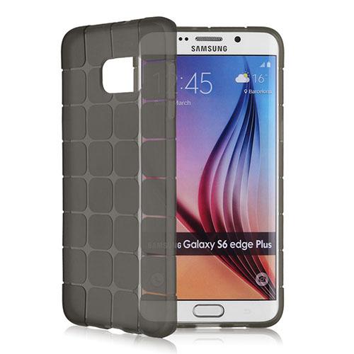 FitCase Samsung S6 EDGE Plus (G928) Plaid Silikon Arka Kapak Siyah