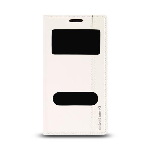 General Mobile Discovery One 4G Gizli Mıknatıslı Pencereli Magnum Kılıf Beyaz