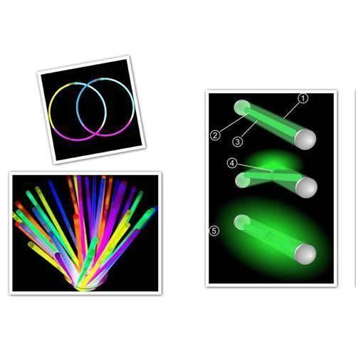 Glow Stick Fosforlu Kırılan 20 Cm Eğlence Çubuk 100 Adet