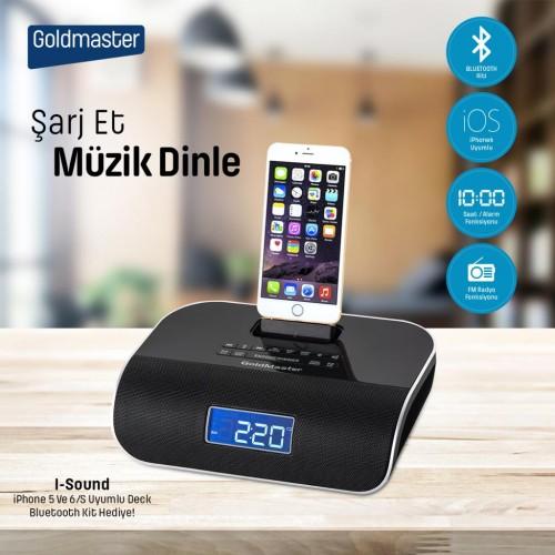 Goldmaster İ-Sound iPhone iPod Girişli Radyolu Hoparlör