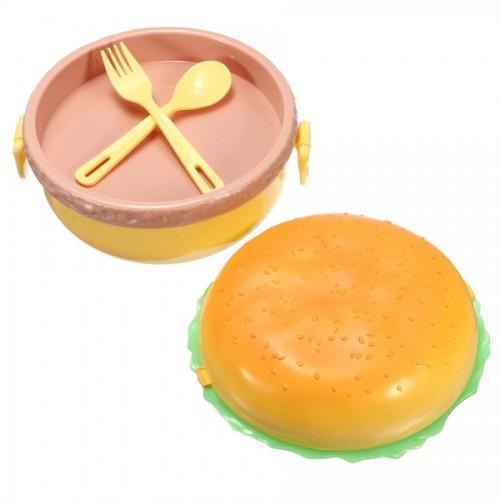 Hamburger Şeklinde Beslenme Saklama Kabı