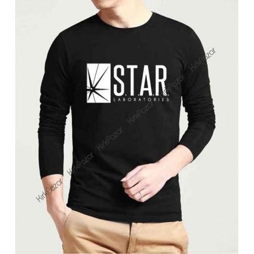 Flash S.T.A.R Lab. Uzun Kol Sweatshirt