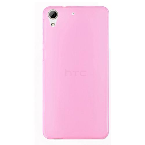 HTC Desire 626 Soft Silikon 0.3mm Şeffaf-Pembe