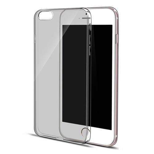 iPhone 6 Plus-6S Plus Silikon Arka Kılıf 0,3mm Şeffaf Siyah
