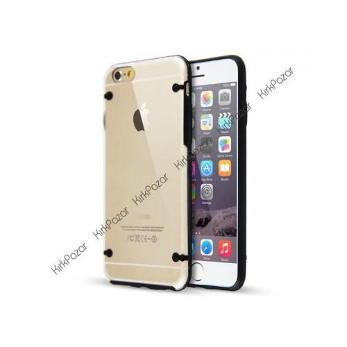 iPhone 6s Hibrit Transparan Kılıf Siyah