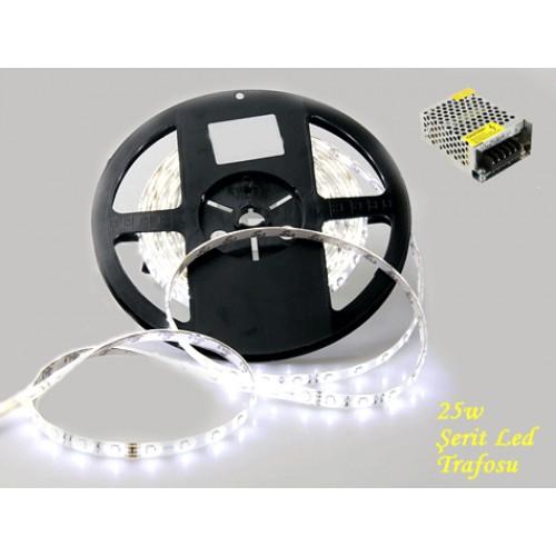 LED Şerit Dış Mekan Silikonlu Aydınlatma 5 Metre Trafo Hediyeli