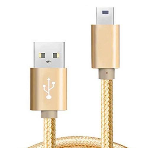 Micro Usb Şarj ve Usb Data Kablo Örgü 100cm Gold