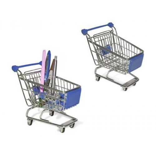 Minyatür Market Arabası Alışveriş Sepeti Kalemlik Asorti