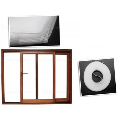 Ayarlanabilir Tek Kanat Yapışkanlı Pencere Cam Sineklik 70x125 cm