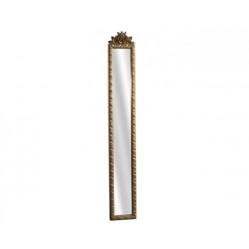 Porio Ahd-1690 - Altın - Çiçek Kabartmalı Boy Aynası 121*18