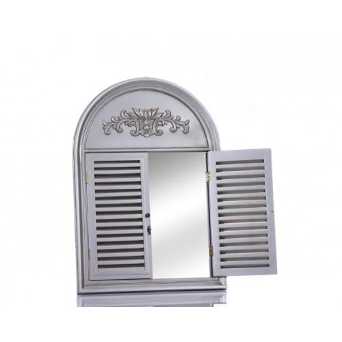 Porio M64-138 - Pencereli Gümüş Büyük Ayna 100*70