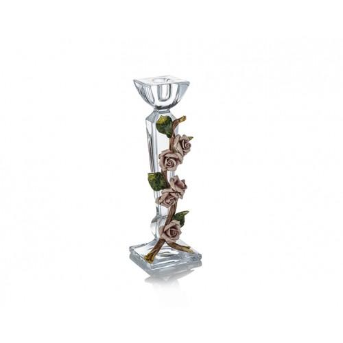 Porio Pr03-1025-Kapitemonte Kristal Kare Tekli Şamdan 26*8