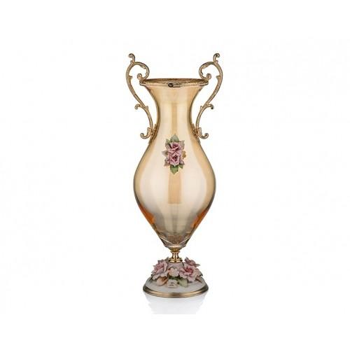 Porio PR05-1051-Kapitemonteli Amber Ayaklı Vazo