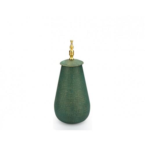 Porio PR10-1004 - Altın Saplı Yeşil Kapaklı Küp 43cm
