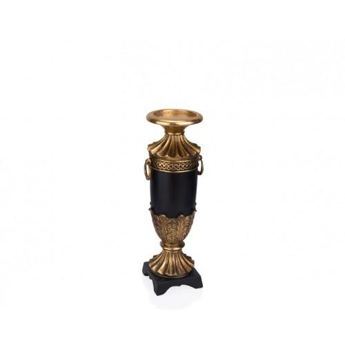 Porio PR12-1006 - Altın Siyah Mumluk 11*10*31