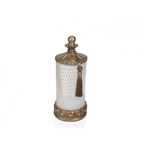 Porio PR12-1056 - Altın Amber Cam Dekoratif Kavanoz 15*15*34