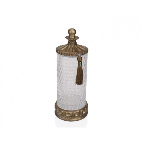 Porio PR12-1057 - Altın Amber Cam Dekoratif Kavanoz 15*15*40
